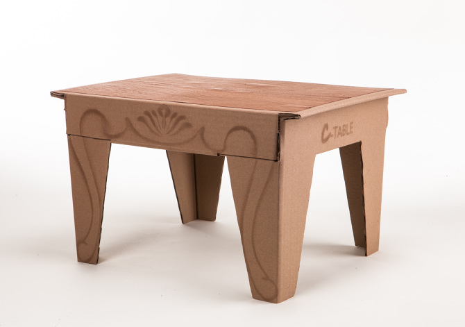 cardboard coffee table ehud eldan product design